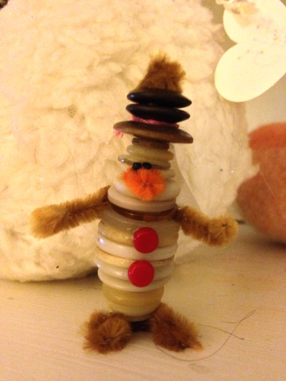 Lil old button snowman ornament