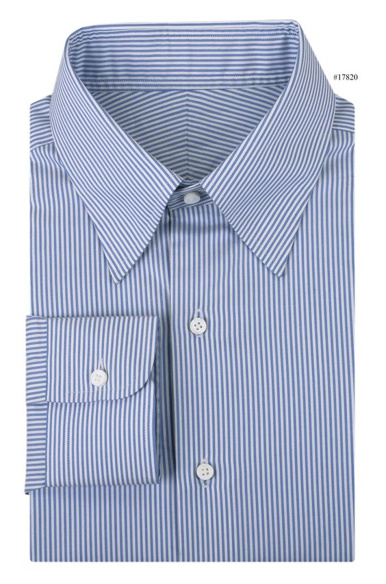 Vista Blue Dress Stripes dress shirt from Luxire explains that stripes would never fade away from a man's go-to pick, offered in best of fit and quality: http://custom.luxire.com/products/blue_dress_stripes_gtz49536  Features: Standard hidden button down collar, 1-button cuffs.