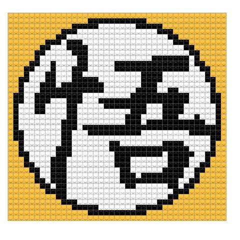 Goku Clothes Symbol Pixel Art Design Pixel Art Clothing Symbols