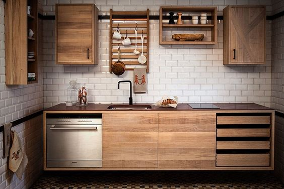 """A new """"rough ranch"""" modular system from Sweden, named the best kitchen in the 2015 Elle Decoration Swedish Design Awards, borrows from the Shakers and adds a dash of the American West for good measure."""