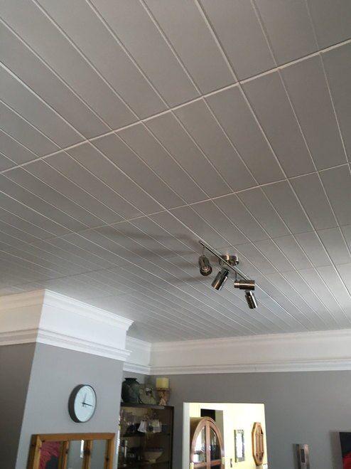 Bead Board Glue Up Styrofoam Ceiling Tile 20 In X 20 In R104 Styrofoam Ceiling Tiles Decorative Ceiling Tile Drop Ceiling Tiles