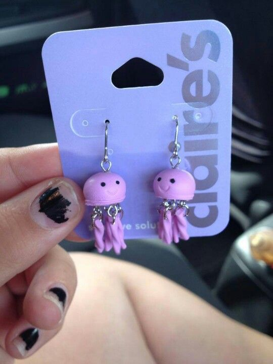 They have squidgy earrings at Claires?! I FOREVER LOVE ...