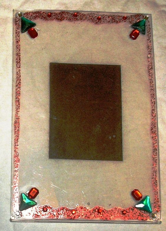 Christmas Bling Clear Magnetic 4x6 Pic Frame ~ Made by Christi Thomas ...