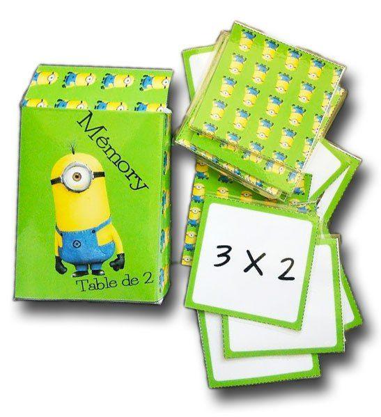mémory des tables de multiplication : apprendre les tables en s
