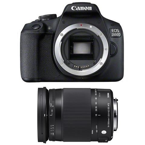 Canon Eos 2000d Sigma 18 300 Macro Os Hsm Contemporary Reflex Digitale Reflex Fotocamere