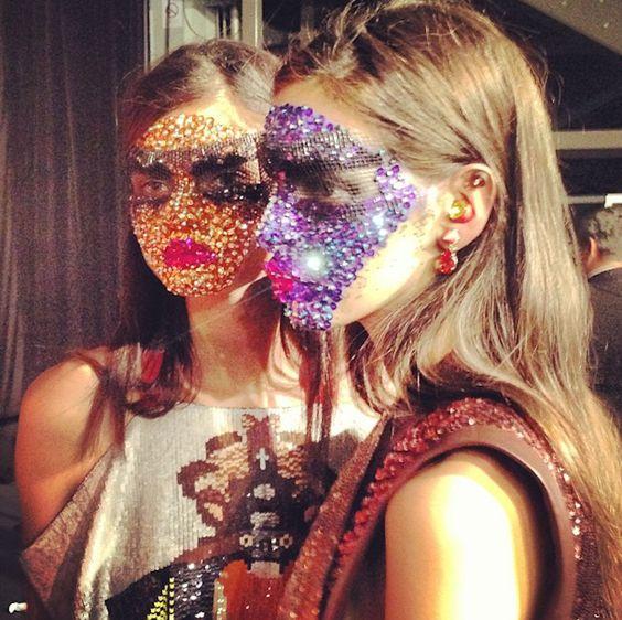 Givenchy's make-up looks using Swarovski for Spring 2014