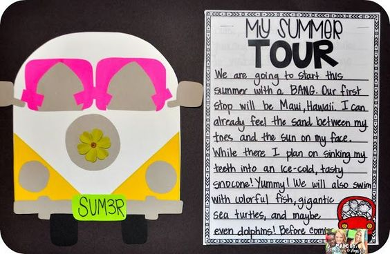 Summer Tour- Descriptive Writing about summer vacation