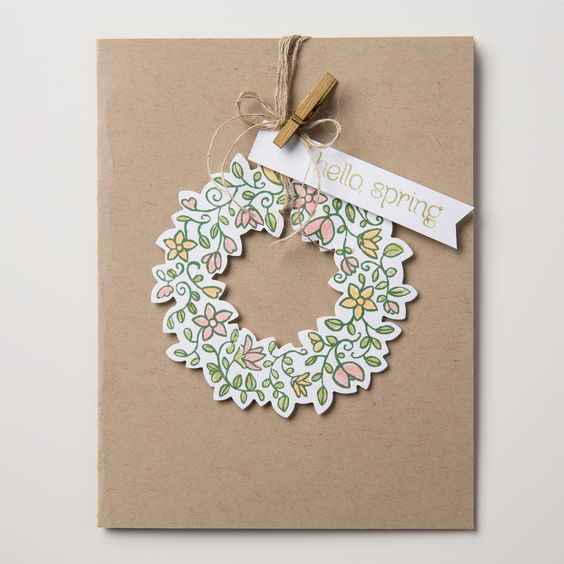 We're loving the new Circle of Spring stamp set. It coordinates with the Wonderful Wreath framelits!