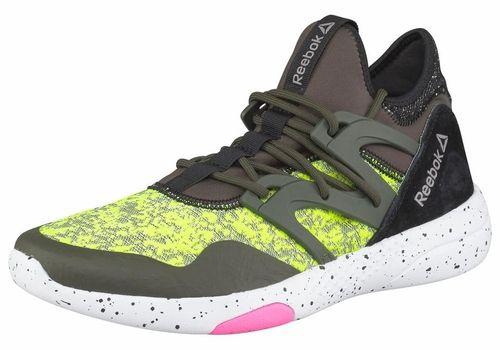 #Reebok #Classic #Damen #Sneakers #grün Reebok HAYASU. Fitness- und Tanzschuhe mit sockenähnlichem Tragegefühl für besonders hohen Bewegungskomfort Textil- und Meshmaterial knöchelhoher Einstieg aus Stretch 3D Ultralite Außensohle für besonders leichtgewichtige Dämpfung.
