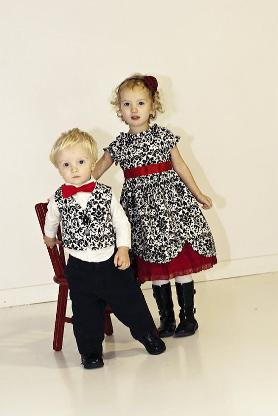 Brother Sister Matching Outfits Dress Vest by annaliesbabyboutique, $78.00