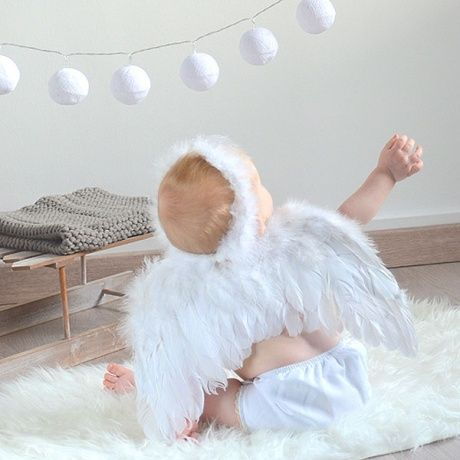 Disfraz de ngel para beb preciosas alas de plumas con - Disfraz de angel para nino ...
