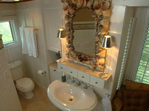 Seashell Pedestal Sink : drawers above pedestal sink A Very, Very, Very Fine House ...