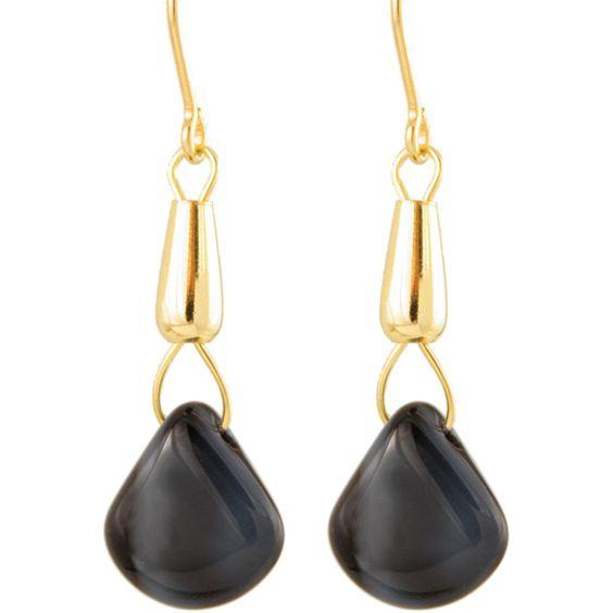 Ardent Designs Fill 'Mystic Midnight Sky' Glass Bead Earrings
