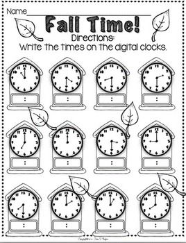 Telling Time Worksheets - awesome site...lets you create the ...