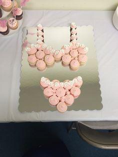 Lingerie shower bridal shower pull apart cupcakes