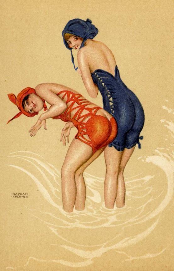 Bathing Beauties by Raphael Kirchner Vintage illustration