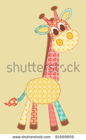 Children'S Application. Giraffe. Patchwork Series. Vector Illustration. - 91699859 : Shutterstock: