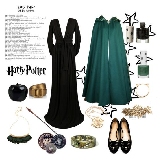 """Day 7: Professor Minerva McGonagall"" by fayeatherton ❤ liked on Polyvore"