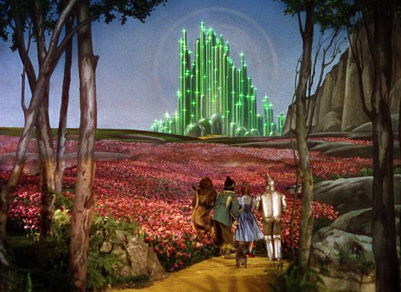 Wizard of Oz (1939), art direction by Cedric Gibbons.: