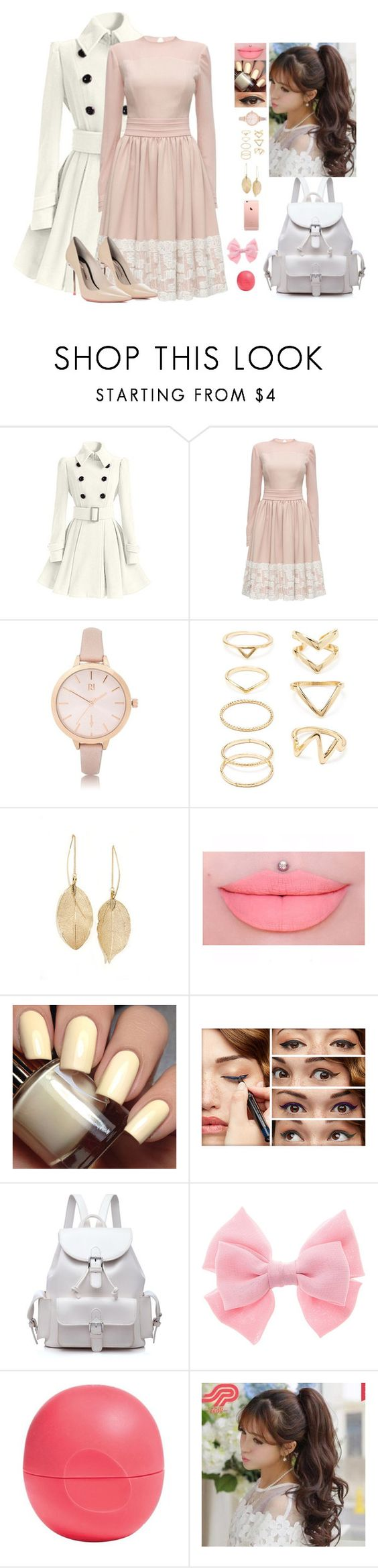 Untitled #114 by killerfashionqueen on Polyvore featuring Lattori, Sophia Webster, Forever 21, River Island, Lulu*s, Pin Show, Benefit and Eos