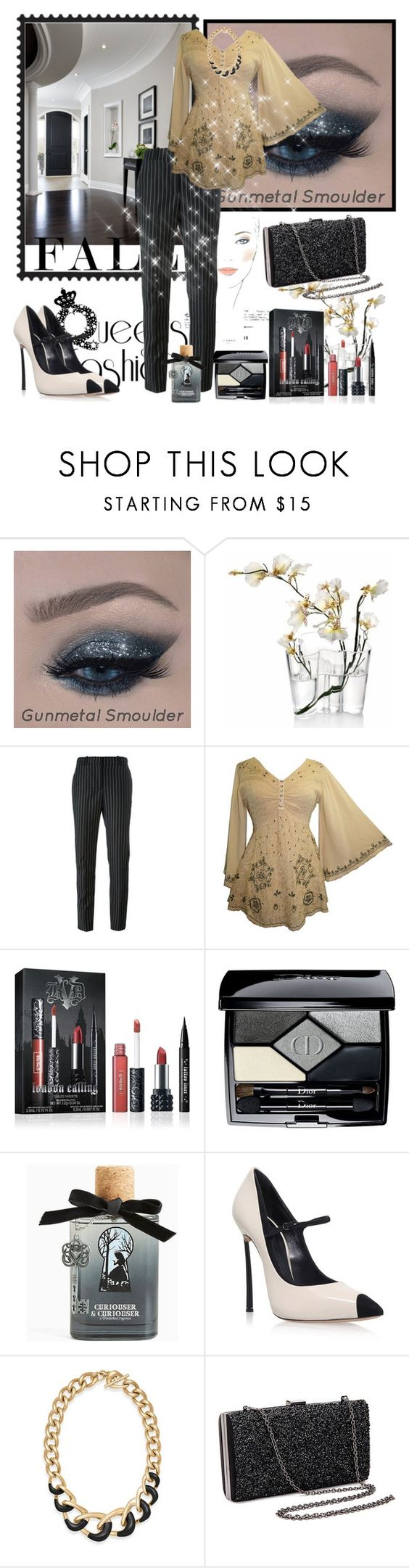 """""""Untitled #959"""" by misaflowers ❤ liked on Polyvore featuring Chanel, iittala, Givenchy, Kat Von D, Christian Dior, Torrid, Casadei and Michael Kors"""