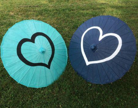 heart paper parasols