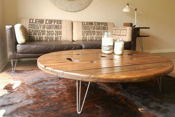 table made from cable drum - Google Search