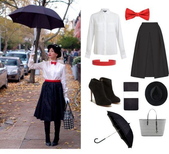 """Last minute costume: Mary Poppins"" by thingsarebetternow ❤ liked on Polyvore"