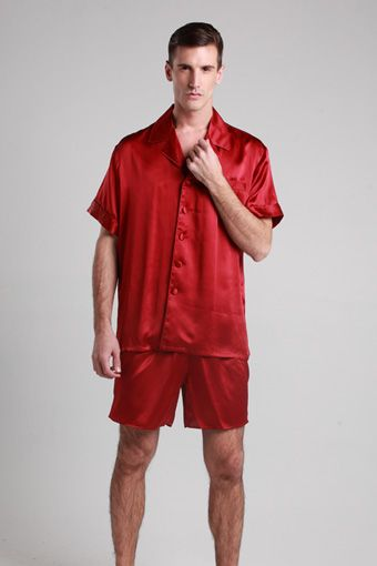 22 momme classic short silk pajamas set | Shops, Pajamas for men ...