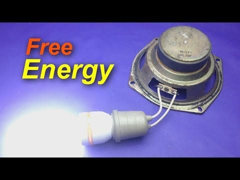 Free Energy Generator Using Speaker Magnet How To Make