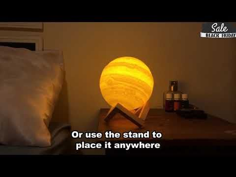 The 3d Best Jupiter Lamp Australia Is Crafted From Environmentally Friendly Pla Rechargeable Battery Included Usb Chargin In 2020 Lamp Technology Trends Night Light