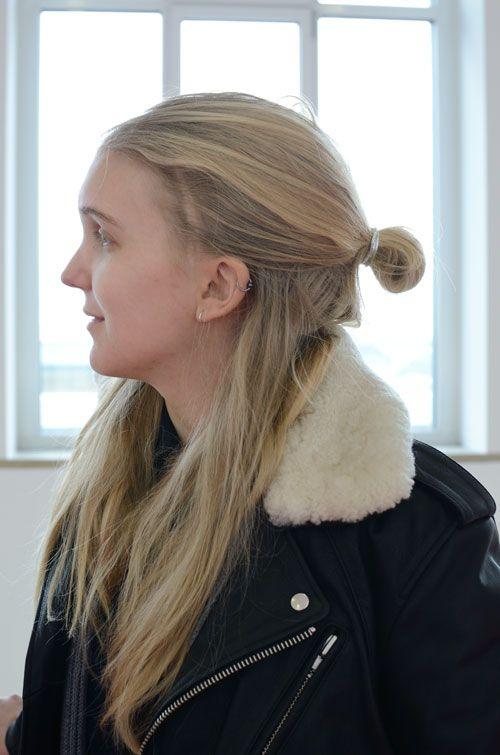 long blond hair, wear it casual