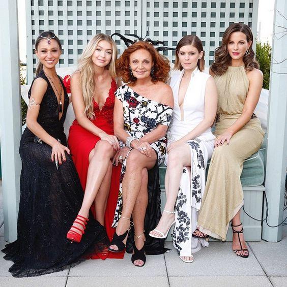 Met Gala 2015 - Gabi Holzwarth, Gigi Hadid, Diane Von Furstenberg, Kate Mara and Kate Beckinsale