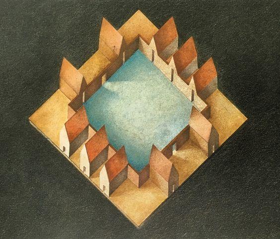 Alfius De Bux — thetriumphofpostmodernism:   Recinto Urbano (urban...