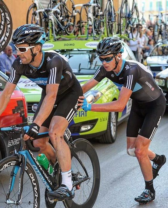 When Chris Froome was teammate..