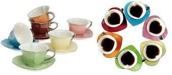 Steeped Tea's Inside-Out Hearts Cup Collection.  A colorful and elegant golden rimmed cup and saucer set. You'll love serving tea in 6 exciting shades. Mix and match the cups and saucers for even more fun!  Order yours today!  KimsSteepedTea@gmail.com