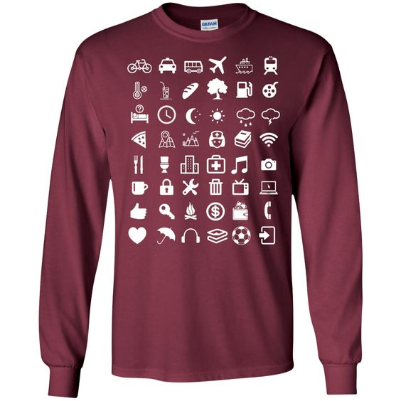 48+ travel icon - IconSpeak LS Ultra Cotton Tshirt