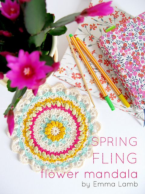 Ravelry: Spring Fling Flower Mandala pattern by Emma Lamb