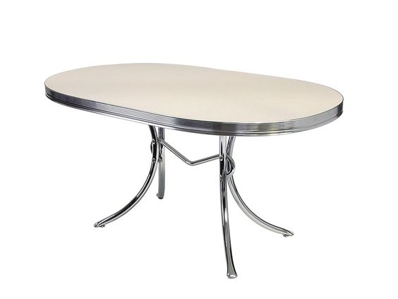 BelAir Bel Air Tisch 2 Dekors Retro Fifties TO-26 Diner Tische Art Deco