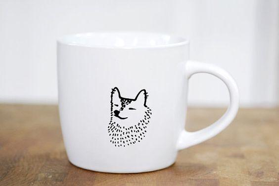 Zen Corgi Mug, $25: Corgi Products, Corginess Zen, Corduroy Corgi, Products Cups Mugs, Coffee Cups, Zen Corgi, Pottery Design, Cups Corgi