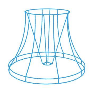 Carcasse abat jour pagode ronde bandeau nos produits for Structure d abat jour