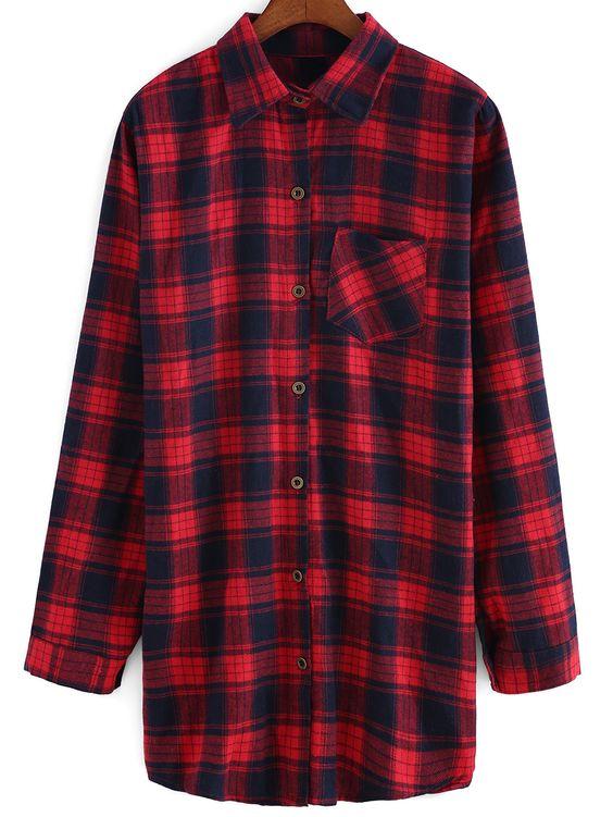 blusa solapa cuadrado bolsillo-rojo 12.00