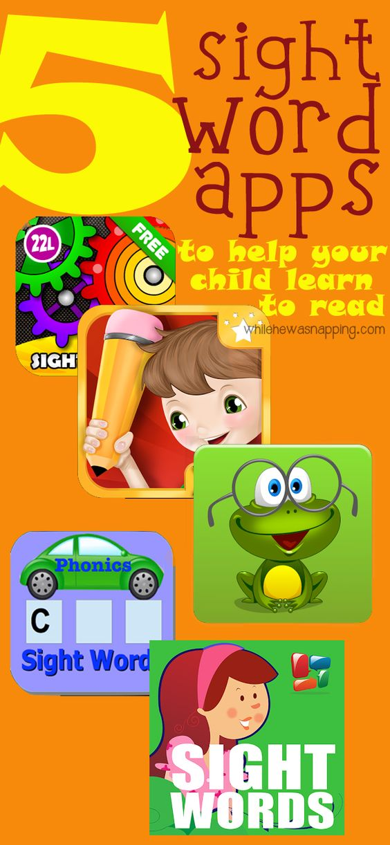 Five Sight Word Apps to Help Your Kids Learn to Read