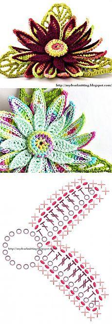 Модное вязание крючком, схемы и советы по рукоделию: Цветы лилии вязаные крючком схемы