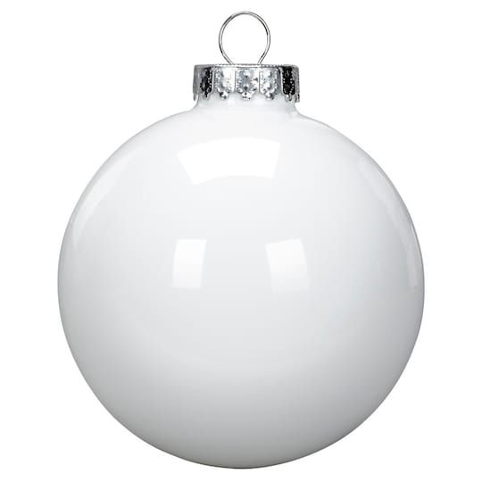 Shop For The 6ct Solid White Glass Ball Ornaments By Ashland At Michaels Glass Ball Ornaments White Ornaments Glass Ball