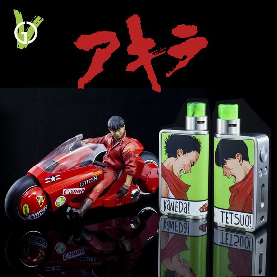 Any anime fans out there? Zero basic with custom Jwrap, Derringer and Gatorbored drip tip #akira #goodcleanvapes #zero #zerobasic