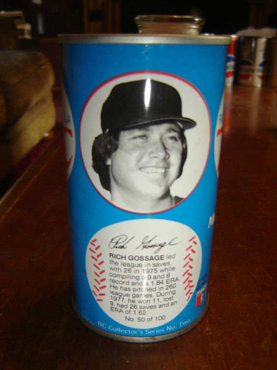 mlb rich gossage baseball stats rc cola empty rare straight steel soda pop can  from $7.0