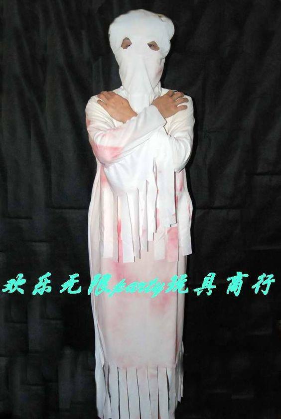 Sad Ghost, sad costume!  ~仮面舞踏会-- 大人ハロウィン用品ホワイトセット