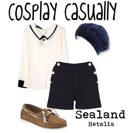 Cosplay Casually, blue skirt & I love