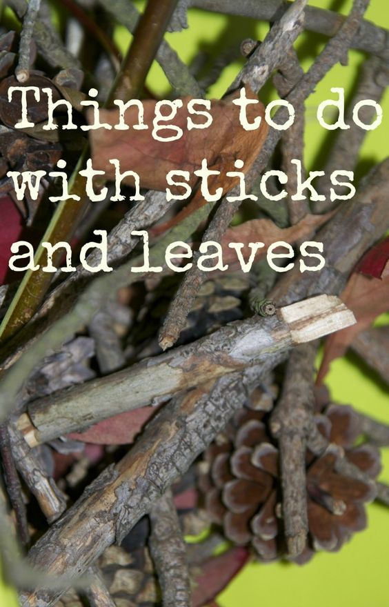 Things to do with sticks and leaves (half the fun is going on a nature walk to gather them!)
